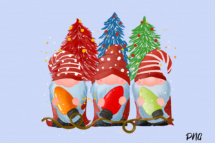 Print on Demand: Christmas Gnomes Sublimation Graphic Illustrations By Suda Digital Art