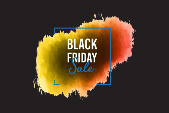 Colorful Painted Banner for Black Friday Graphic Backgrounds By Ju Design