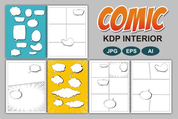 Print on Demand: Comic Book KDP Interior Graphic KDP Interiors By edywiyonopp