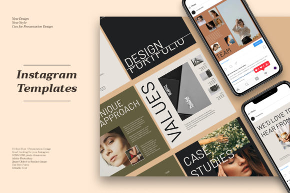 Corporate Instagram Templates Graphic Web Elements By qohhaarqhaz