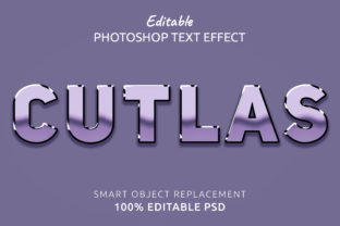 Print on Demand: Cutlas Photoshop Editable Text Effect Graphic Layer Styles By IYIKON