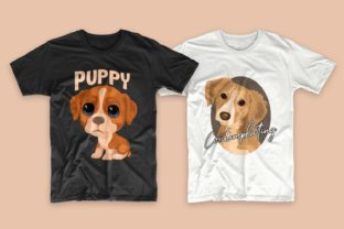 Print on Demand: Dogs Bundle Svg T-shirt Designs Graphic Print Templates By Universtock 8