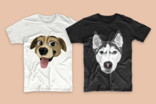 Print on Demand: Dogs Bundle Svg T-shirt Designs Graphic Print Templates By Universtock 7