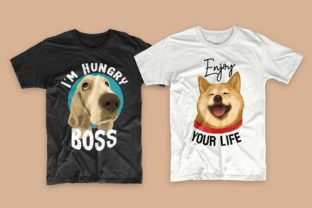 Print on Demand: Dogs Bundle Svg T-shirt Designs Graphic Print Templates By Universtock 4
