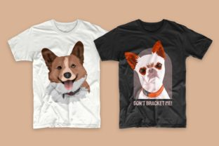 Print on Demand: Dogs Bundle Svg T-shirt Designs Graphic Print Templates By Universtock 5