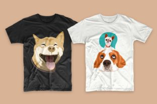 Print on Demand: Dogs Bundle Svg T-shirt Designs Graphic Print Templates By Universtock 6