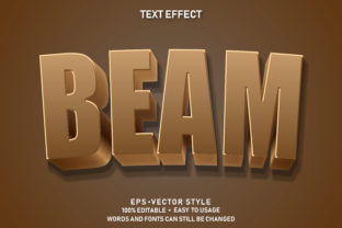 Print on Demand: Eps Editable Text Effect Beam Premium Graphic Graphic Templates By yosiduck