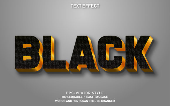 Eps Editable Text Effect Black Premium Graphic Graphic Templates By yosiduck