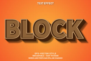 Print on Demand: Eps Editable Text Effect Block Premium Graphic Graphic Templates By yosiduck