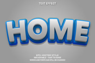 Print on Demand: Eps Editable Text Effect Home Premium Graphic Graphic Templates By yosiduck