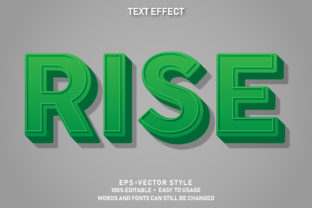 Print on Demand: Eps Editable Text Effect Rise Premium Graphic Graphic Templates By yosiduck