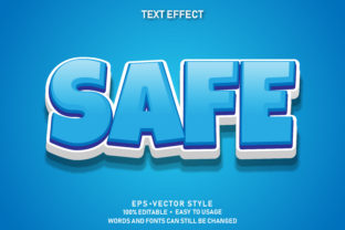 Eps Editable Text Effect Safe Premium Graphic Graphic Templates By yosiduck