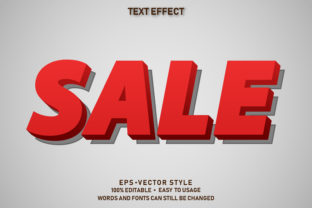 Print on Demand: Eps Editable Text Effect Sale Premium Graphic Graphic Templates By yosiduck