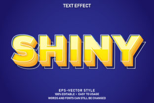 Print on Demand: Eps Editable Text Effect Shiny Premium Graphic Graphic Templates By yosiduck
