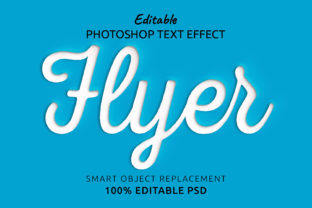 Print on Demand: Flyer Photoshop Editable Text Effect Graphic Layer Styles By IYIKON