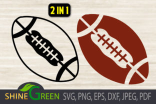 Print on Demand: Football SVG for Cricut and Sublimation Graphic Crafts By ShineGreenArt