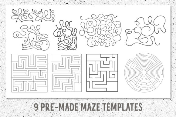 Funny Mazes Collection Graphic Graphic