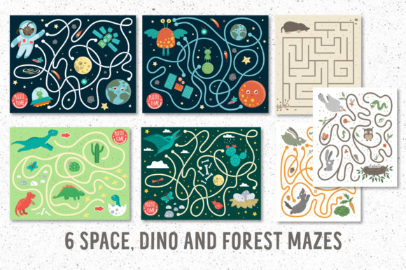 Funny Mazes Collection Graphic Download