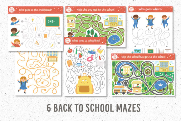 Funny Mazes Collection Graphic Design