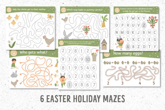 Funny Mazes Collection Graphic Downloadable Digital File