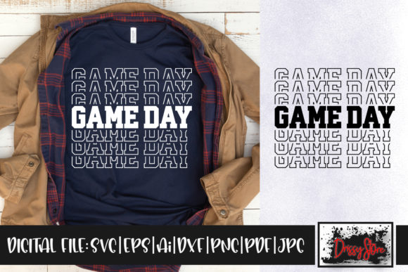 Game Day Graphic Crafts By DrissyStore