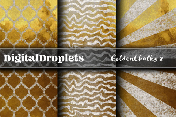 Golden Chalks Papers 2 Graphic Backgrounds By digitaldroplets