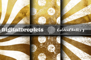 Golden Chalks Papers 7 Graphic Backgrounds By FlyingMonkies