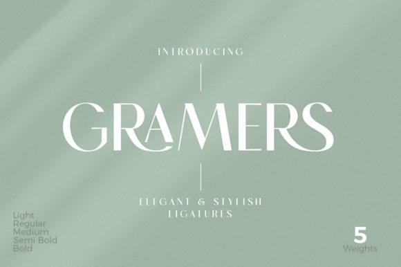 Print on Demand: Gramers Display Font By doratypefoundry