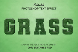 Print on Demand: Grass Photoshop Editable Text Effect Graphic Layer Styles By IYIKON