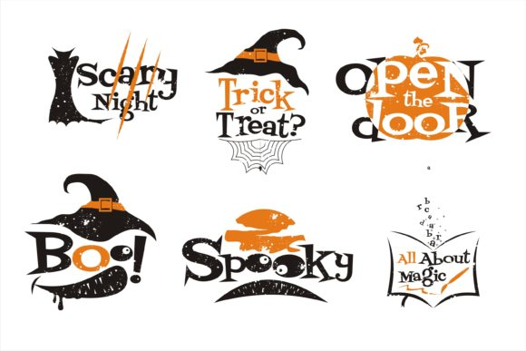 Print on Demand: Halloween Scary Quotes Illustration Graphic Illustrations By edywiyonopp
