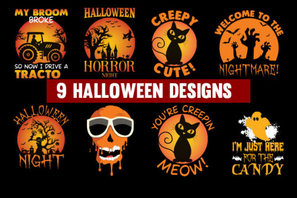 Halloween T-shirt  Design Special Bundle Graphic