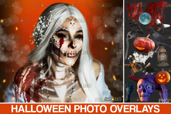 Halloween Clipart & Halloween Overlays Graphic Actions & Presets By 2SUNS