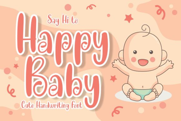 Print on Demand: Happy Baby Display Font By MJB Letters