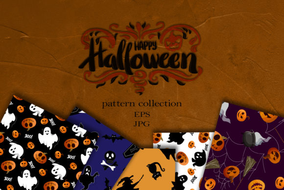 Happy Halloween Seamless Patterns Collection Graphic Patterns By ksenia.shuneiko