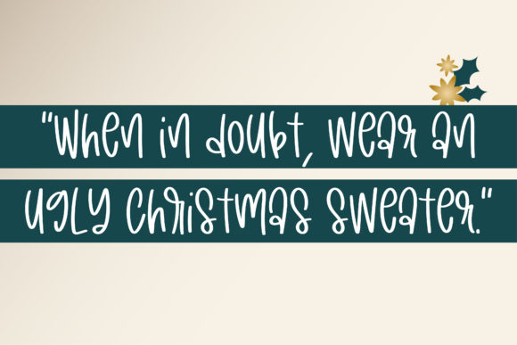 Happy Holidays Font Downloadable Digital File