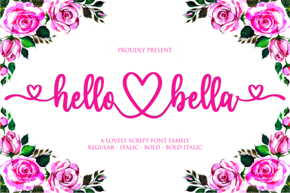 Print on Demand: Hello Bella Script & Handwritten Font By NJStudio