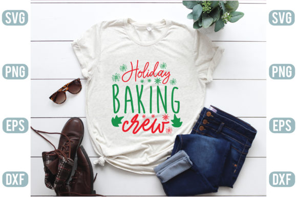 Holiday Baking Crew Graphic Crafts By creativejasim2