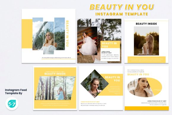 Instagram Feed Template - Beauty in You Graphic Presentation Templates By maju57creative