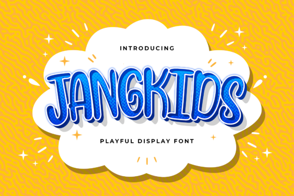 Print on Demand: Jangkids Display Font By StringLabs
