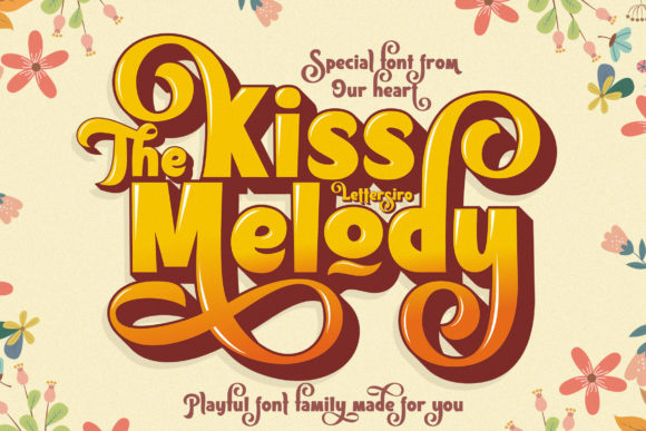 Print on Demand: The Kiss Melody Display Font By Lettersiro Co.