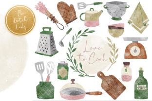 Print on Demand: Kitchen Clipart Graphic Illustrations By daphnepopuliers