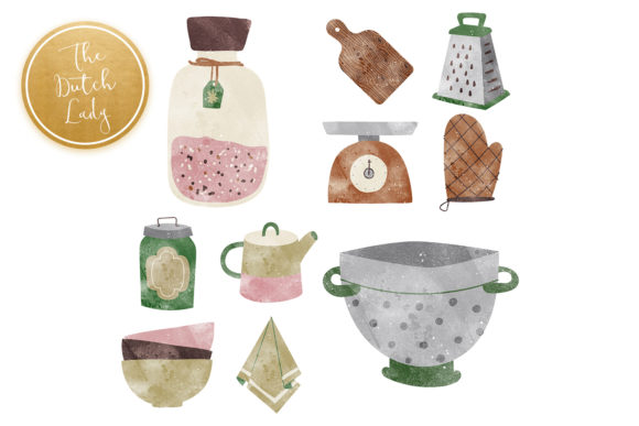 Kitchen Clipart, Cooking Clipart, Kitche Graphic Item