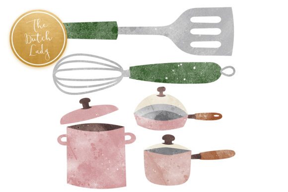Kitchen Clipart, Cooking Clipart, Kitche Graphic Preview