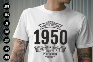 Print on Demand: Limited Edition 1950 Aged to Perfection Graphic Crafts By CraftsCreateShop