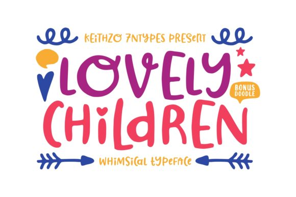 Print on Demand: Lovely Children Script & Handwritten Font By Keithzo (7NTypes)