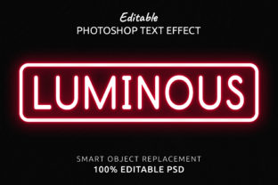 Print on Demand: Luminous Photoshop Editable Text Effect Graphic Layer Styles By IYIKON