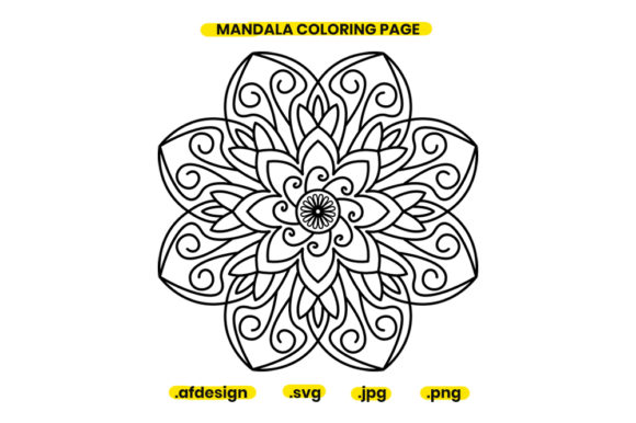 Print on Demand: Mandala Coloring Page Design 07 Graphic Coloring Pages & Books Adults By doridodesign
