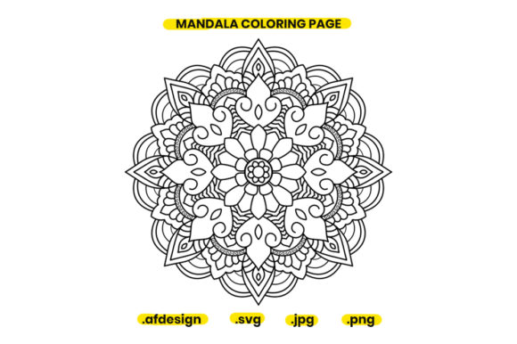 Print on Demand: Mandala Coloring Page Design 08 Graphic Coloring Pages & Books Adults By doridodesign
