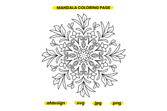 Print on Demand: Mandala Coloring Page Design 09 Graphic Coloring Pages & Books Adults By doridodesign