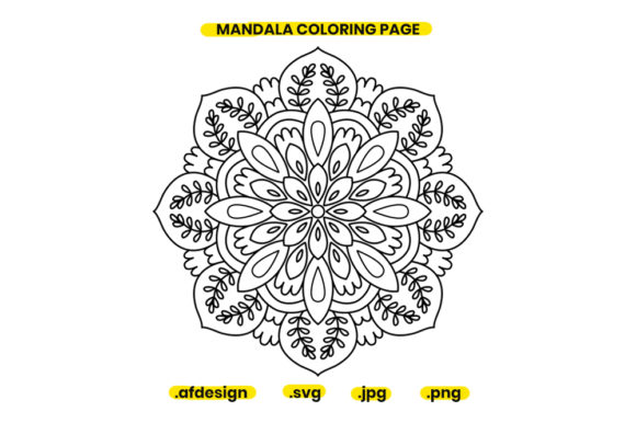 Print on Demand: Mandala Coloring Page Design 10 Graphic Coloring Pages & Books Adults By doridodesign